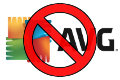 AVG Free Antivirus logo, crossed out