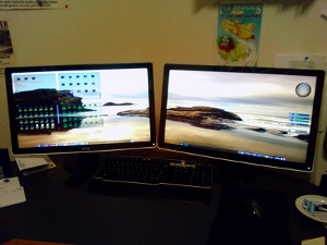 Picture of my new Dell monitors